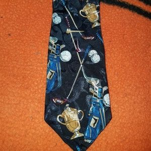 Men's Tie Necktie Novelty Golf Sky Bend Country